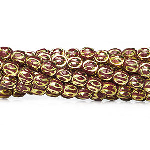 Enamel Plated Brass Beads