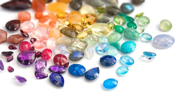 array of colorful gemstones