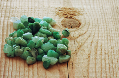 beads made from nephrite stones