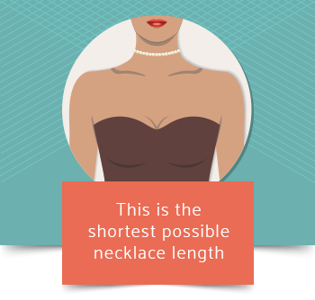 collar necklace length graphic