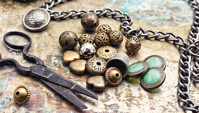 diy jewelry making with metal beads