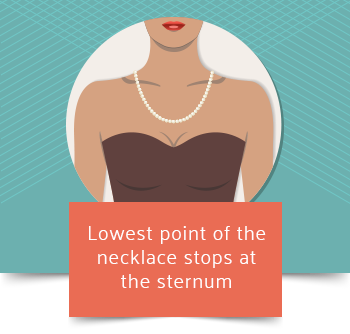 matinee necklace length graphic