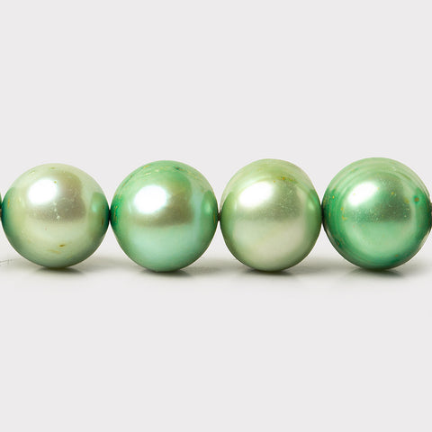 Spring Green Freshwater Pearls Baroque Side Drilled 10-11mm