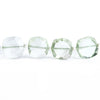 Prasiolite Faceted Pillow Beads 14 inch 30 pieces