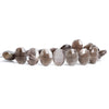 13x11mm Chocolate Moonstone Side Drilled Faceted Oval Beads 7 inch 18 pieces