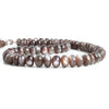 9mm-13mm Chocolate Moonstone Plain Rondelle Beads 16 inch 62 pieces
