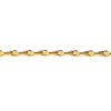 1mm 22kt Gold plated Tear Drop Link Chain sold by the foot