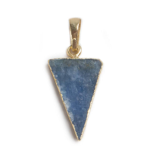 28x12mm Gold Leafed Kyanite Point Pendant focal bead & Bail 1 piece