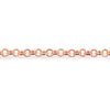 2mm Rose Gold plated Rolo Chain sold in 6 feet