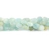 6.5x5.5mm-8x6.5mm Frosted Multi Color Beryl Plain Nugget Beads 7.5 inch 25 pieces