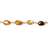 7x5-8x6mm Hessonite plain oval Gold Rosary Chain by the foot 23 beads
