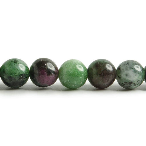 8mm Ruby in Zoisite plain round beads 14.5 inch 49 pieces