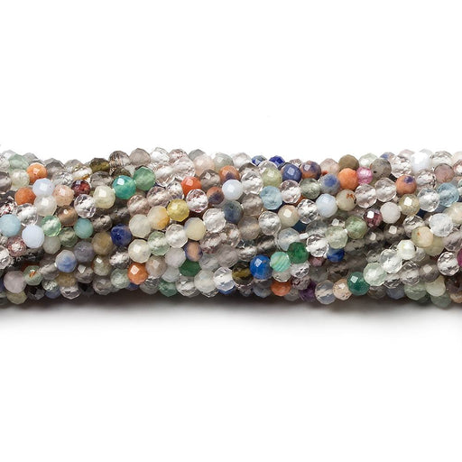 2-2.5mm Multi Gemstone Micro Faceted rondelle beads 13 inch 140 pieces