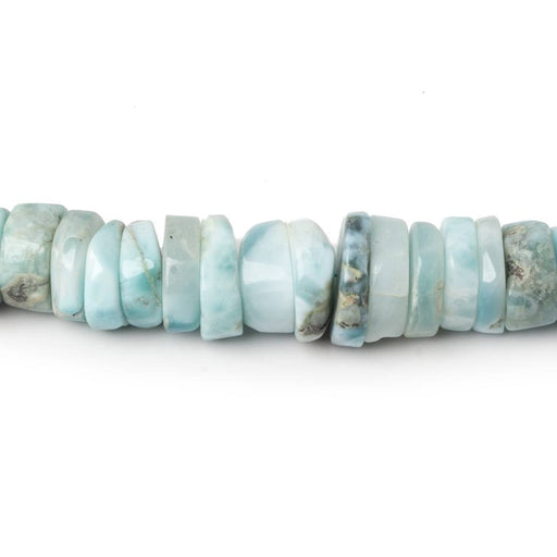 5-11mm Larimar Hishi beads 16 inch 124 pieces
