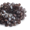 11x9-14x9mm Chocolate Brown Moonstone faceted pears 8 inch 40 beads