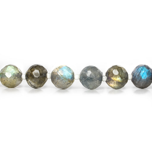 7mm Labradorite faceted round beads 16 inch 50 pieces
