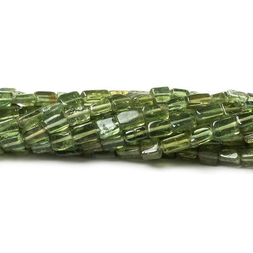 4x3-6x4mm Green Apatite plain rectangle beads 13 inch 63 pieces