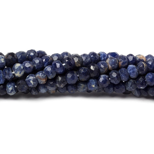 4mm Sodalite faceted rondelle beads 12.5 inch 100 pieces