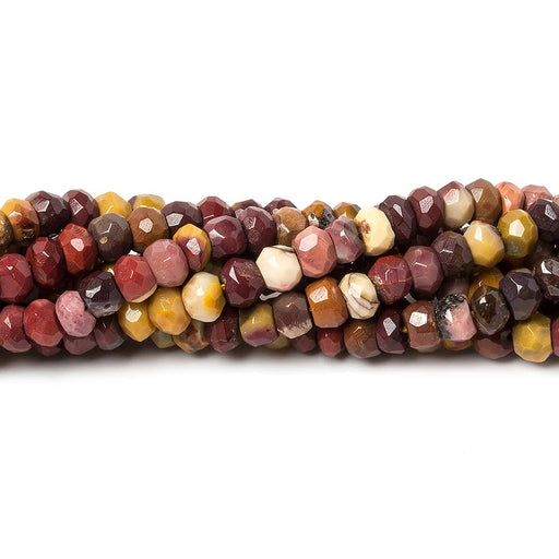 4.5mm Multi Color Moukaite Jasper faceted rondelle beads 13 inch 105 pieces