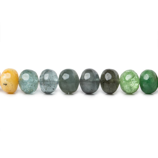 8-8.5mm Multi Gemstone plain rondelles 16 inch 64 beads