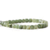 Cat's Eye Green Quartz faceted cubes 8 inch 30 beads 7x7mm average