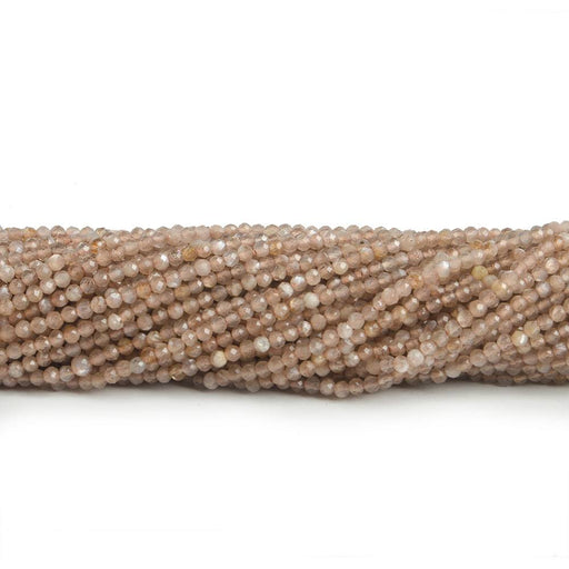 1.5mm Sunstone & Moonstone micro faceted rondelle beads 13 inch 190 pieces