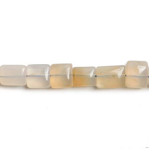 6x6-7x7mm Champagne Chalcedony plain rectangle & squares 14 inch 37 beads