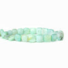 Blue Peruvian Opal plain square beads 8 inch 22 beads 7x7-10x0mm
