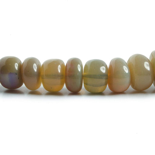 5-7mm Olive Green Ethiopian Opal plain rondelles 16 inch 120 beads