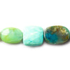 Blue Peruvian Opal mixed shape beads 8 inch 11x11-18x13mm 12 beads