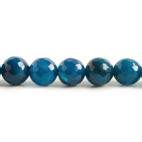 Finest collection of 8mm Blue Agate faceted rounds 15 inch 47 beads - Buy From The Bead Traders Online Store.