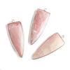 42x16mm Silver .925 Bezel Pink Peruvian Opal Point 1 ring Pendant 1 piece