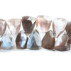 Chocolate Moonstone Top Drilled Faceted Triangle Beads 8 inch 44 pieces