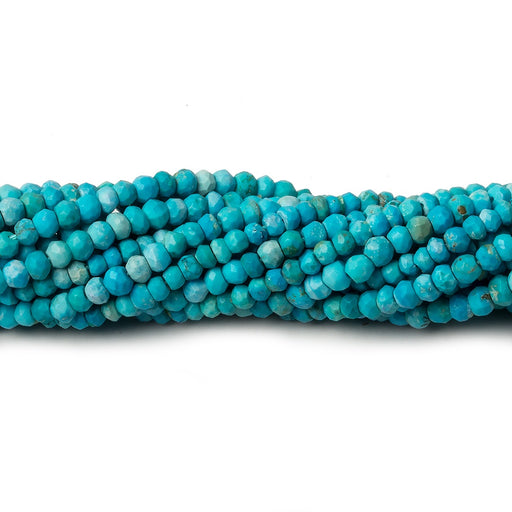 2.5-3mm Turquoise Howlite faceted rondelle beads 13 inch 125 pieces