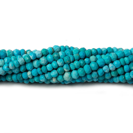 3.5-4mm Turquoise Howlite faceted rondelle beads 13 inch 105 pieces