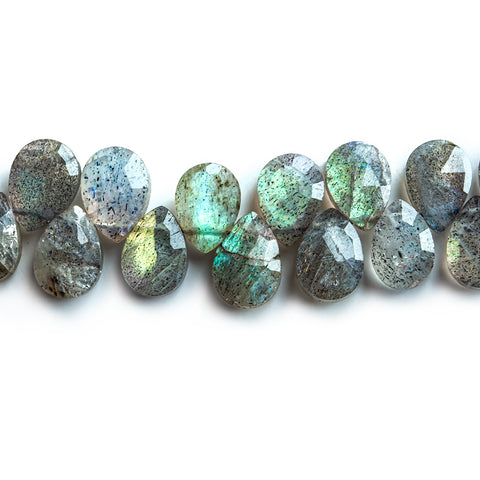 6-7mm Labradorite Faceted Pear Beads 5.5 inch 45 pieces