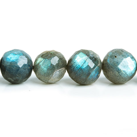9.5mm-11mm Labradorite Faceted Round Beads 16 inch 43 pieces