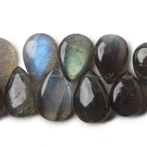 13x8-15x10mm Labradorite plain pears 8 inch 39 pieces