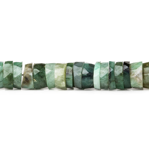 Brazilian Emerald Faceted Heshi beads 8 inch 83 pieces