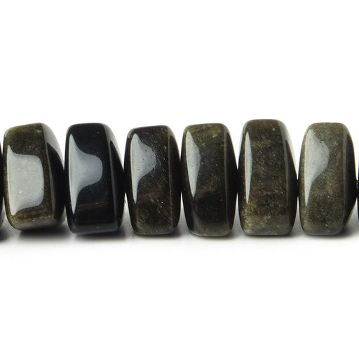 12x12x12mm Obsidian center drilled plain triangle beads 16 inch 65 pcs