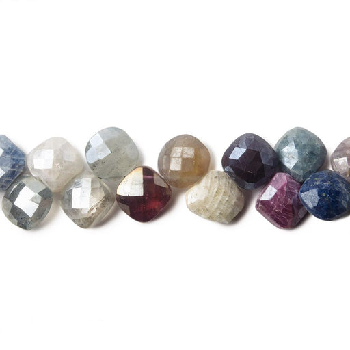 7x7mm Mystic Multi-Gemstone faceted pillows 50 pieces 8 inch
