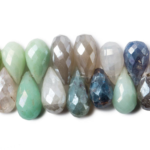 8x6-10x6mm Mystic Multi-Gemstone faceted teardrops 77 pieces 8 inch