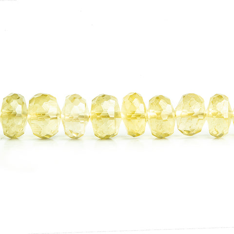 Lemon Quartz Faceted Rondelle Beads 6 inch 35 pieces