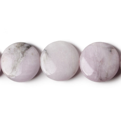 20mm Kunzite plain coin beads 15.5 inch 20 pieces