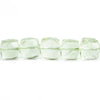 Prasiolite Faceted Cube Beads 8 inch 28 pieces