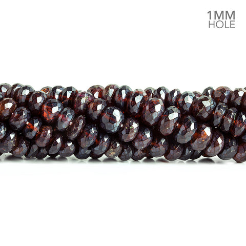 Mystic Garnet faceted rondelles 14 inch 79 large hole beads 7-8mm diameter