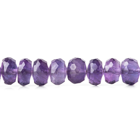Premium quality 5-6mm Amethyst faceted rondelles 6 inch 36 beads - Buy From The Bead Traders Online Store.