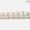 7x8mm White Off Round Large Hole pearls 8 inch 30 pieces AA