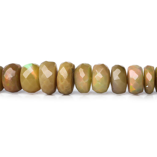 4-7mm Olive Brown Ethiopian Opal Faceted Rondelle Beads 16 inch 134 pieces