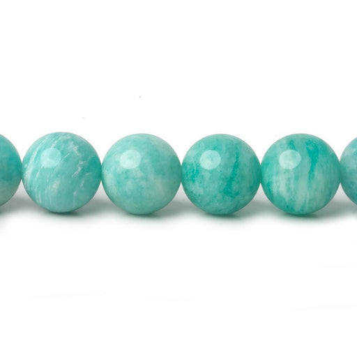 9mm Amazonite plain round beads 16 inch 45 pieces